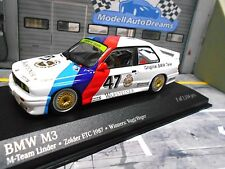 Bmw m3 e30 DTM etc 1987 #47 Vogt Heger Linder winner Minichamps rar 1:43