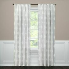 """Curtain Panel  Clipped Sheer Radiant Gray (54""""x84"""") Threshold"""