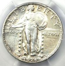 1924-S Standing Liberty Quarter 25C - Certified PCGS AU Detail - Rare Date Coin!
