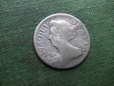 QUEEN ANNE.  1707, SILVER SIXPENCE.   SCARCE.      NICE CONDITION.
