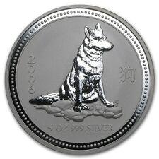 2006 Australia 5 oz Silver Year of the Dog BU - SKU #11153