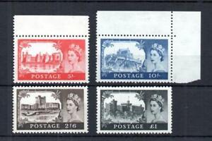 1959 2nd DE LA RUE CASTLES SET UNMOUNTED MINT SG 595-598 Cat £195