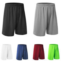 Men Loose Shorts Fitness Oversize Gym Sports Workout Jogging Half Solid Pants
