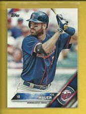 Joe Mauer 2016 Topps Series One 1 Card # 286 Minnesota Twins Baseball