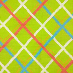 Textured Lime Green Light Weight Simple Line Pattern Fabric 3 1/2 Yds