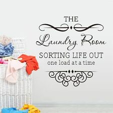 Laundry Room Sort Life Out Removable Wall Vinyl Sticker Art Decal Home Decor DIY