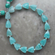 Amazonite Faceted Triangle 7mm x 9mm Semi-Precious Gemstone