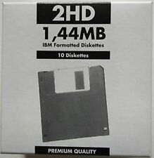 10 floppy disk 2HD 1,44 MB IBM formatted disk etichette personalizzabili