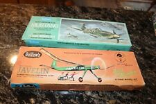 GUILLOWS JAVELIN 24' GUI603 & GUILLOWS MUSTANG P-51D #905 Balsam Wood Airplane