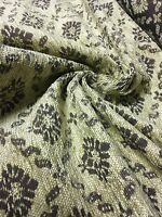 BEAUTIFUL LIGHT GOLD/ BROWN CHENILLE UPHOLSTERY FABRIC 5 METRES