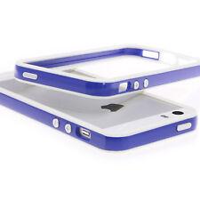 XAiOX Apple iPhone 5 5s SE Bumper Handy Hülle Tasche bumper Cover in weiß / blau