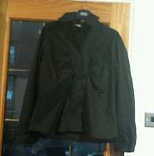 Blusa Camisa Tamaño 18 Atmosphere Negro De Manga Larga