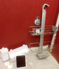 Simplehuman Adjustable Shower Caddy + Suction Hook/4 Sm Caddies/2 Hooks/Mirror