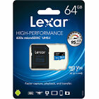 Lexar 64GB 64G 633x 95MB/s Micro SDXC MicroSD TF Class10 UHS-I card  SD Adapter