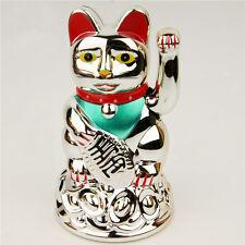 "Chinoise Lucky Cat waving bras bonne chance 4.5 ""Feng Shui japonais maneki neko"