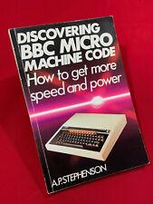 Discovering BBC Micro Machine Code Book Manual