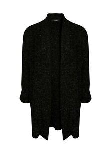 Evans Womens Black Sparkle Cardigan Long Sleeve Jumper Knitwear Top Outwear