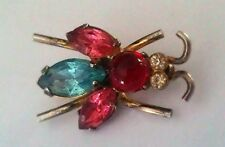 Vintage Signed Coro Sterling Silver Rhinestone Scatter Bug Insect Pin/Brooch