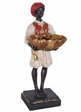Diener mit Schale Konfektschale Kolonialstil Figur mit Turban Skulptur Dekofigur