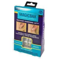 MagicBax Earring Lifters 2 Pairs of Adjustable Hypoallergenic Earring back Lifts