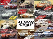 Calcas Porsche 911S Le Mans 1970 1:32 1:24 1:43 1:18 911 slot decals