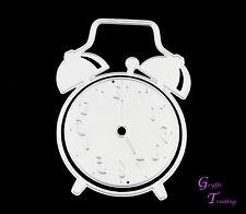 Alarme Clock Metal Cutting les Stencil Set of 2 Time cards Crafts Scrapbooking