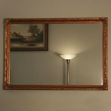 """Vintage 39"""" x 27"""" Wooden Gilt Gold Hollywood Regency Neoclassical Wall Mirror"""