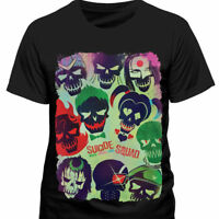 Suicide Squad - Skull Poster Icons T Shirt - NEW & OFFICIAL