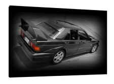 Mercedes 190e Cosworth - 30x20 Inch Canvas - Framed Picture Print
