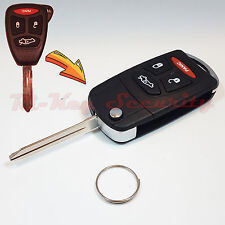 New Flip Key Modified Case Shell For Chrysler Dodge Jeep Remote Key 4 Buttons 3B