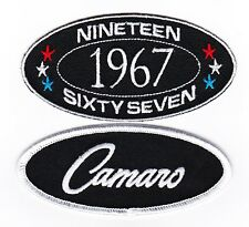 1967 CAMARO SEW/IRON ON PATCH BADGE EMBROIDERED CHEVY Z28 CAR V8 CHEVROLET