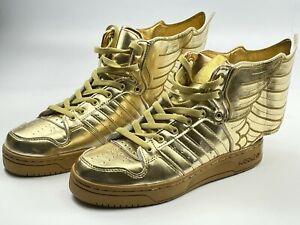 Adidas Originals Sneakers Jeremy Scott Wings 2.0 Gold Shoes M29013 mens size 7,5