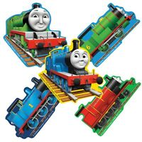 Thomas the Tank Engine Stickers x 5 - Shaped Stickers - Birthday Party Supplies