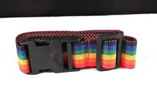 "Handy Multi-Purpose 40""-65"" Adjustable Rainbow Nylon Luggage Secure Strap"
