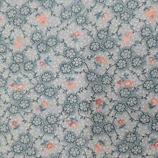 Peter Pan Fabrics 100% Cotton Quilt Fabric $5/Yard Blue on Blue Flowers