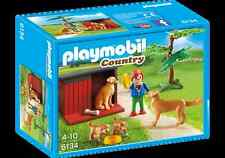 """Playmobil 6134 """" Golden Retriever & Puppies """" by Playmobil Country Farm Dogs"""
