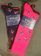 4 pair Mens Ralph Lauren Polo Socks New Red Black Navy