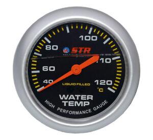STR Water Temperature Mechanical Gauge Liquid Filled High Performance 66mm TEST