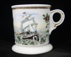 Rare Steam Sail Ship Concatenated Order of Hoo Hoo Fraternal Shaving Mug 1893