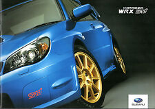 Subaru Impreza WRX STi 2005-06 UK Market Sales Brochure