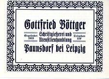 Gottfried Böttger paunsdorf chez Leipzig police fonderie u. utensilienhand... 1914
