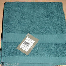 "Sferra BELLO Hand Towel Teal Soft Plush Combed Cotton 20x30"" New"