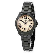 Fossil Cecile Rose Dial Black Ion-plated Ladies Watch AM4614