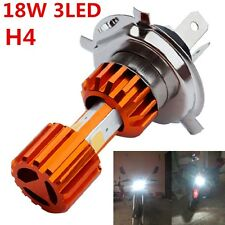 H4 3* COB Bulbs 2000LM Motorcycle Hi/Lo Lamp Scooter Fog Lights - Aluminum Alloy