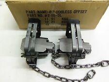 2 Bridger # 2 Dogless Offset 2 Coil Spring Foothold Traps Coyote Fox Trapping