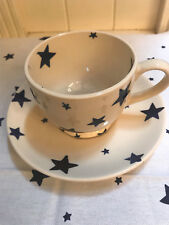 Emma Bridgewater Starry Skies Large Teacup&Saucer, Discontinued, Blue Star.