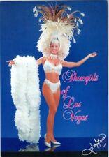 1993 Showgirl Las Vegas Vintage Postcard White Sequins & Headress Leah Marie L