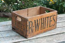 More details for vintage r whites wooden crate (lemonade soda pop bottles)