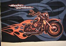 Harley Davidson SIGNATURE MOTORCYCLE  fabric quilting panel  19x25