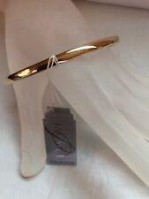 Jacmel 14k Yg Plated Sterling  Bangle Bracelet  New !